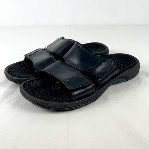 Vionic Black Jon Slide Sandal
